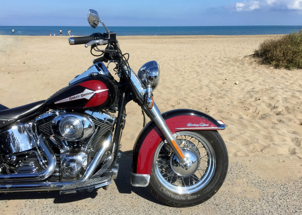 About our bikes, the Harley Softail