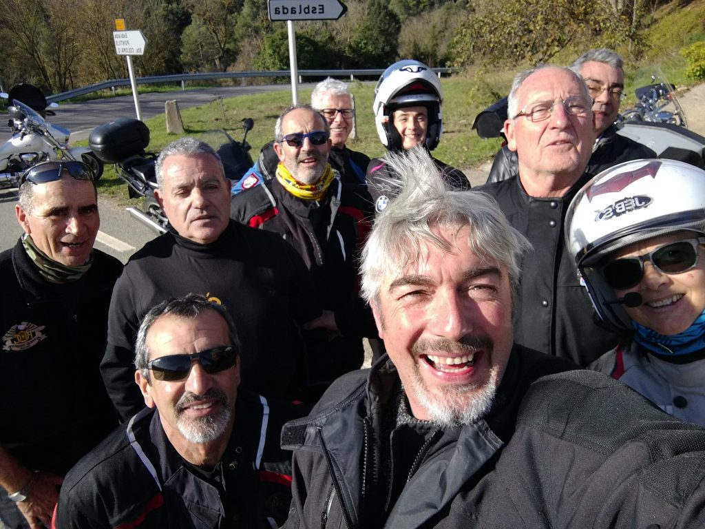 a group of happy bikers