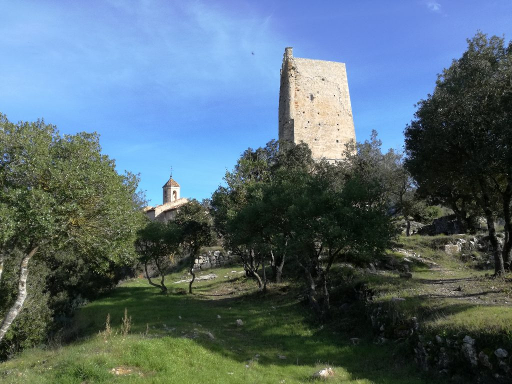 The ruined convent and Moorish castle of Sant Perpetua De Gaia